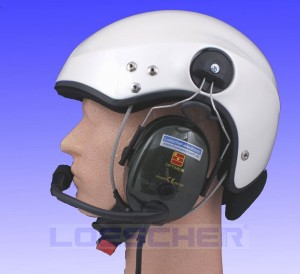 SCARAB, pearlwhite, paramotor-helmet, with LUH-1